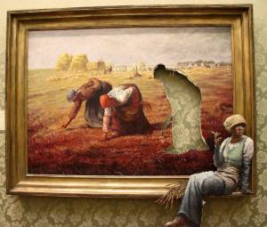 Millet:Banksy The Gleaners