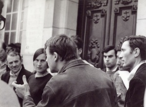 Gilbert and Nicole at the Sorbonne, around 1968